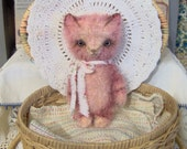Primitive Cat E-Pattern Mini Tabby Mohair Kitty