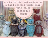 How To Tint and Hand Dye a Mohair Bear Tutorial With Color Wash Technique  E Pattern Guide