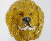 vintage LION HEAD wall decor
