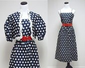 OGGEE . 2 piece bolero and dress . size 10  .  made in USA