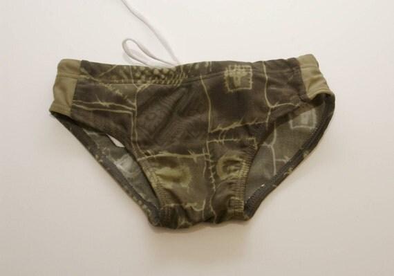 "FOREST GREEN . child swim trunks . bathing suit . child size 3 / 20"" waist"