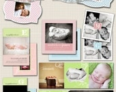 photoshop card templates for photographers - Hello World Birth Announcements