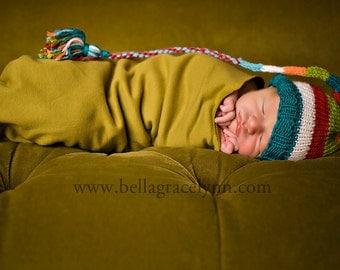 Cutest Elf on the Block Stocking Cap  KNITTING PATTERN - PDF format