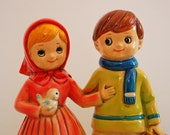 vintage musical figurine Berman & Anderson Inc. Valentine's Day gift Engagement gift