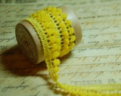 Lemon Yellow Petite  Pom Pom Trim