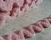 Pastel Pink 1/2 inch wide Chenille Ric Rac