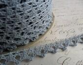 3/8 Petite Crochet Pale Blue Lace Trim