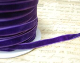 3/8inch Pansy Purple Velvet Ribbon
