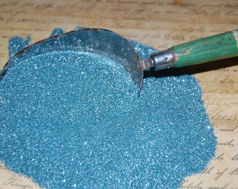 Seashore Blue Vintage German Glass Glitter