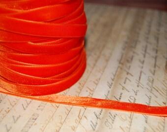 Orange Velvet 3/8  Ribbon