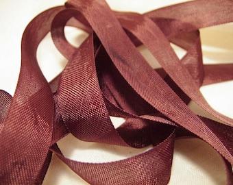 Chocolate Brown Vintage Seam Binding Ribbon