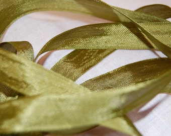 Olive Green Vintage Seam Binding Ribbon