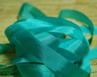 Aquamarine Vintage Seam Binding Ribbon