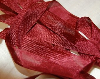 Bordeaux Vintage Seam Binding Ribbon
