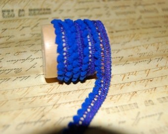 Royal Blue Petite Pom Pom Trim