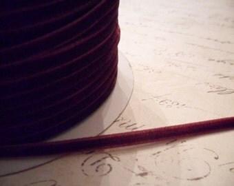 1/8inch Plum Velvet Ribbon