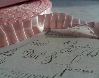 5/8 Pretty Pink Pleated Satin Ribbon Trim