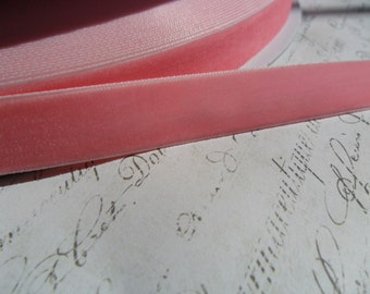 5/8 Cotton Candy Pink Velvet Ribbon