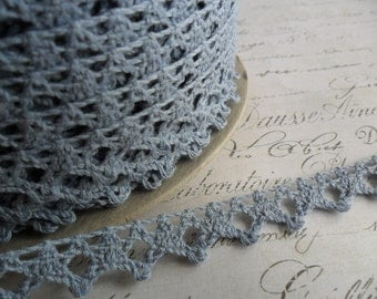 3/8 Petite Crochet Pale Blue Lace Trim