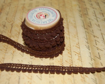 Chocolate Brown Petite  Pom Pom Trim