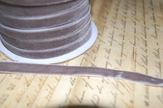 3/8inch Pewter Velvet Ribbon