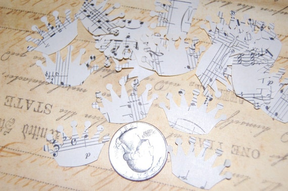 Vintage Music Paper Crown Embellishments