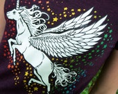 Womens Unicorn on Heathered Amethyst