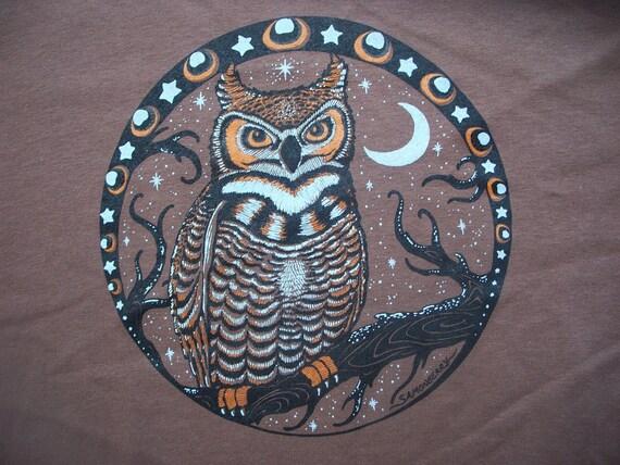 Owl shirt mens Brown