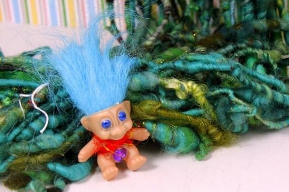 Reserved - Handspun Art Yarn- Troll Garden- Signature SmoothSpun Artisan Yarn