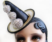 The Pierrot - Clown Hat- Harlequin Hat - Circus Hat - READY to SHIP