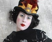 The Blanche - Victorian-Civil War-Goth-Riding Top Hat