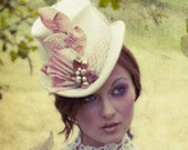 The Holly - Victorian Bridal Top Hat - As Seen in Gothic Beauty Magazine