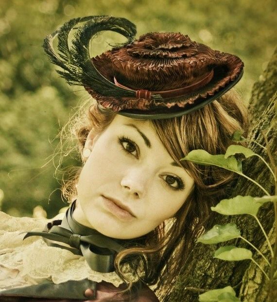 The Byrone - Pleated Victorian Hat