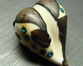 Riveted Shard heart - handmade lampwork bead