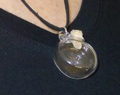 One Hand Blown Glass Bottle Pendant Hand Sculpted by Jenn Goodale
