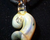 Glass Seashell Pendant Hand Sculpted by Jenn Goodale