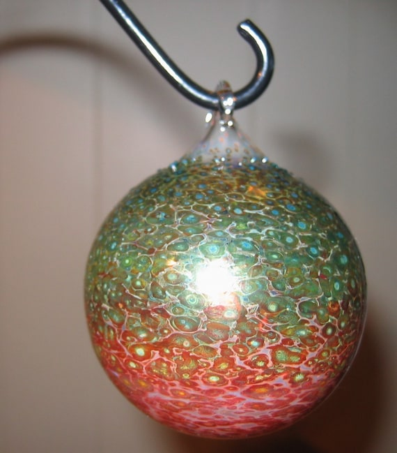 Small Flameworked Glass Ornament Hand Blown and Sculpted by Jenn Goodale