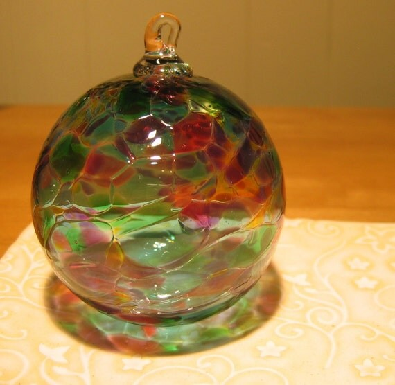Large Furnace Worked Glass Ornament Hand Blown and Sculpted by Jenn Goodale