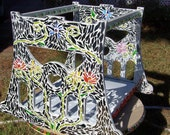 recycled repurposed cradle mosaic art plant stand