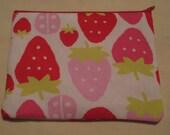 RESERVED Summer Strawberry Zipper Bag