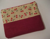 RESERVED    Super Cherry Zipper Bag