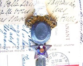 Steampunk Vintage Key Necklace-Top Hat Star