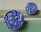 aquatic earrings, blueberry