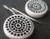 twelve cities earrings, black ... handmade porcelain jewelry by Sofia Masri