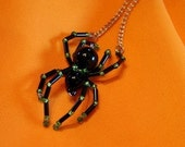 Custom Itsy bitsy spider necklace or pin - you choose the colors