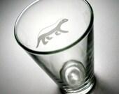 Honey Badger Pint Glass