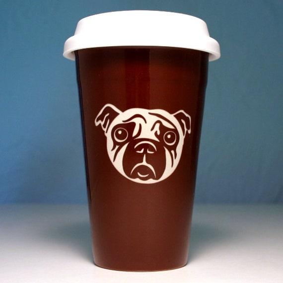 Pug Travel Coffee Mug