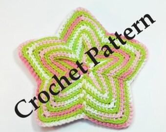 Vintage Crochet Pattern - Star Potholder - Easy to make, great housewarming gift - PDF file - (DAYSTAR) Katherine Kowalski