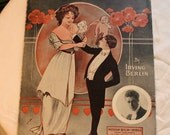 Snooky Ookums Gibson Girl Pfieffer Illustration Cherub Poppies 1913 Sheet Music Irving Berlin