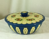 Vintage Candy Tin Round Dutour Caramelle Bowl shaped Confection container